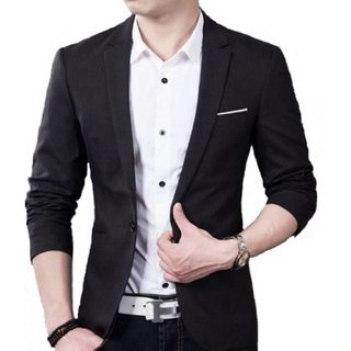 Mens Black Slim Fit Blazer