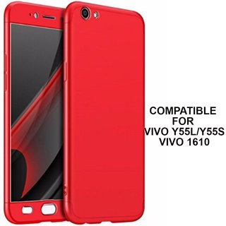 premium selection 8805e 88ab3 MOBIMON 360 Degree Full Body Protection Front Back Case Cover (iPaky Style)  with Tempered Glass for Vivo Y55 (Red)