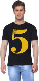 5 number Black T shirt