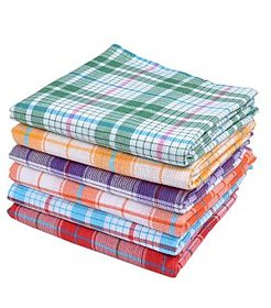 Luxmi Home Set of 2 cotton Handloom Linen Bath Towel - Multi