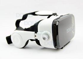 snowbudy VR10 inbuilt Sterio Headphone 3D Video VR Headset for SmartPhones Google Cardboard Oculus Rift Gear