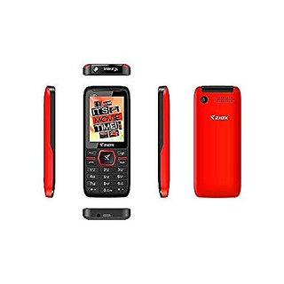 Ziox S337+ Dual SIM Basic Phone (Red)