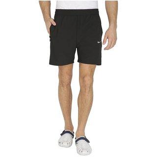 Nikemen Black Polyester Lycra Shorts