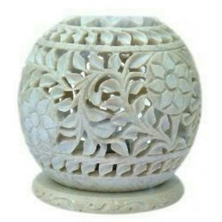 T7 MARBLE DHOOP BATTI STAND 3.5  INCH