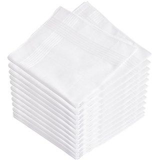 White Cotton Handkerchief Pack of 6