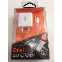 LDNIO Dual USB AC Adapter DL- AC200 With I Phone  Data Cable (White)