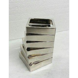 GlamGals unique spiral design pen holder in highly polished steel. Can be branded - screen printing or lazer engraving .