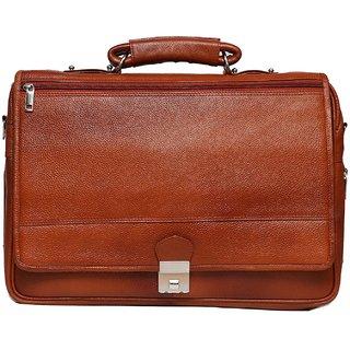 C Comfort Genuine Leather 16 inch Expandable Laptop Messenger Bag EL480