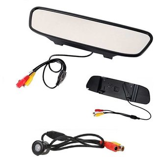 RWT 4.3 Digital Tfd Car Lcd Screen Rearview Mirror Monitor With Rear View Mirror For Toyota Innova Type 3