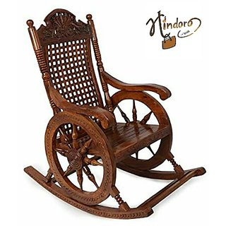 Hindoro Amazing Hand carved Rocking Chair