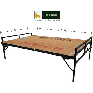 Homegenic Smart Single Size Folding Guest Bed with Plywood Top (MAKE IN INDIA PROJECT)