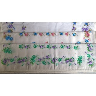 Women handkerchiefs soft cotton fabric Plain multicoloured face napkin