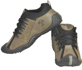 Alex Passion Men's  Beige  Black Synthetic Sports  Running Outdoor Shoes