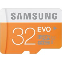 Samsung EVO 32 GB Class 10 MicroSDHC Flash Memoery Card With SD Adapter