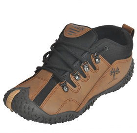 Alex Passion Men's  Brown & Black Synthetic Sports & Running Outdoor Shoes