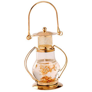 Skycandle Golden Lantern Gel Candle With Free 6 Pcs Gel Glass Candle