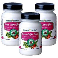 Forest Herbs  GREEN COFFEE BEAN Pack Of 3 Bottles