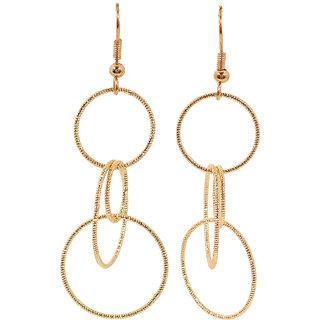 Maayra Women Earrings Partywear Alloy Dangler Drop Golden Designer Jewellery