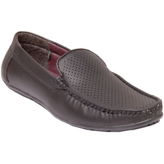 Stylos Men's 1507 Black Synthetic Leather Loafers