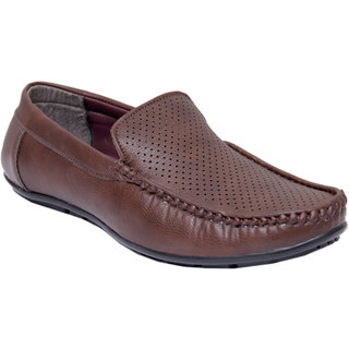 Stylos Men's 1507 Brown Synthetic Leather Loafers