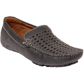Stylos Men's 1509 Black Synthetic Leather Loafers