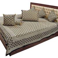 Shoppingtara Jaipuri Pure Cotton Double Bedsheet N Cushion