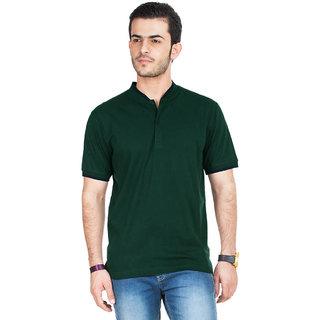 KETEX Green Slim Fit Polo T Shirt