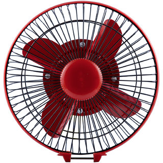 Autofy  Universal 9'' Inch 12V DC Fan For All Cars (Black And Red)
