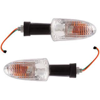 Autofy Halogen Side Indicator / Turning Lights Set For Yamaha Apache All Models (Set Of 2 Black)