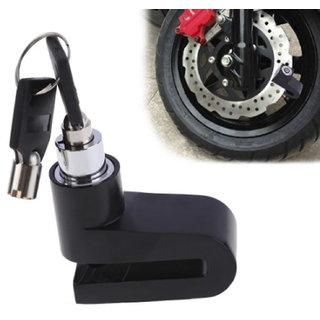 Autofy Universal Disc Brake Lock For Two Wheelers (Black)