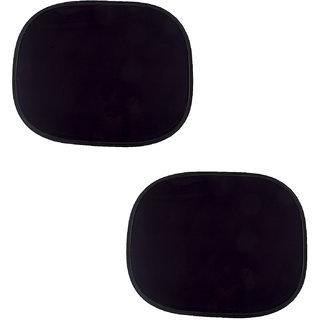 Autofy Universal Electrostatic Film Foldable Rear Window Shades / Car Curtains For All Cars (Black Set Of 2)