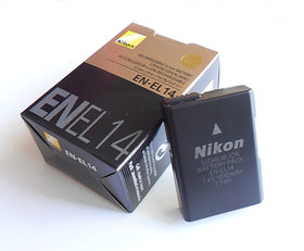 Nikon En-el14 Rechargeble Li-on 7.4v Battery For Nikon Camera
