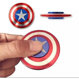 Captain America Shield Metal Fidget Spinner Stress Reducer Anti-Anxiety