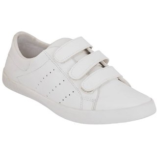 buy blinder men's pure white velcro casual shoes online