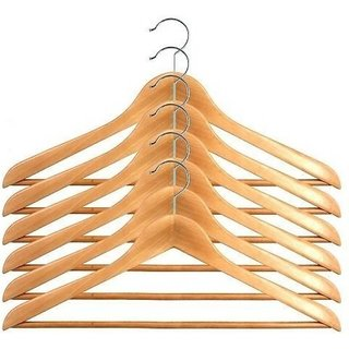 DLD Wooden Hanger Pack Of 12