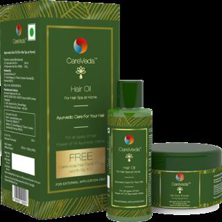 CareVeda Ayurvedic Hair Spa at Home Kit (CareVeda Ayurvedic Hair Oil with Hair Pack worth Rs.120 Free)