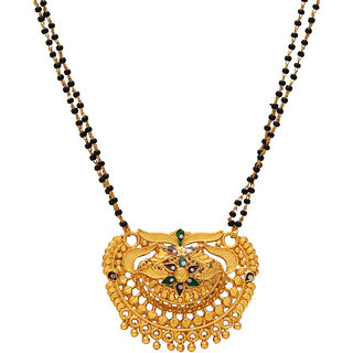 23fabfaec579d Memoir Gold plated Ethnic filigree work Bikaneri Handmade Mangalsutra  Traditional jewellery necklace Women