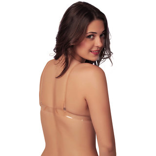 TRANSPARENT STRAP FANCY BRA ( 3 PC COMBO PACK )