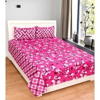 EXOTIC COTTON 1 DOUBLE BED SHEET WITH 2 PILLOW COVER DBRP902