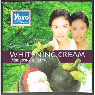 YOKO WHITENING CREAM MANGOSTEEN EXTRACT.