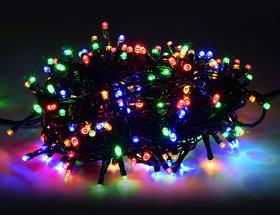 20 METER (65 FEET) Diwali Decorative LED String Lights Serial Big Bulbs - Multi Color