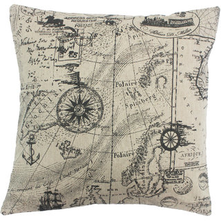 Blueberry Home Voyage Print 16 x 16 Inch Cushion Cover