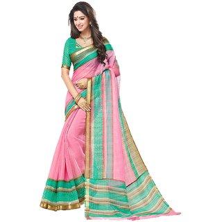 Meia Multicolor Mysore Art Silk Printed Saree With Blouse