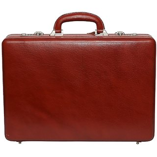 C Comfort Genuine Leather Expandable Briefcase Office Bag EL441