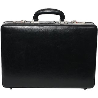 C Comfort Genuine Leather Expandable Briefcase Office Bag EL442