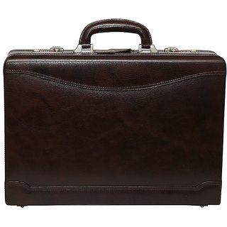 C Comfort Genuine Leather Expandable Briefcase Office Bag EL443