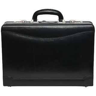 C Comfort Genuine Leather Expandable Briefcase Office Bag EL444