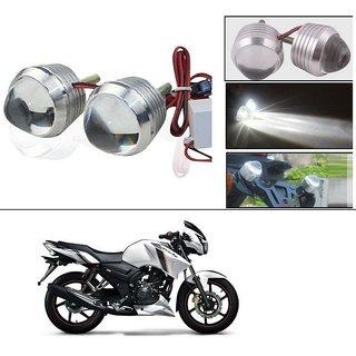AutoStark Ultra Bright Scooty/Motorcycle/Bike White Flasher Led Fog Light- Set Of 2 For TVS Apache RTR 160