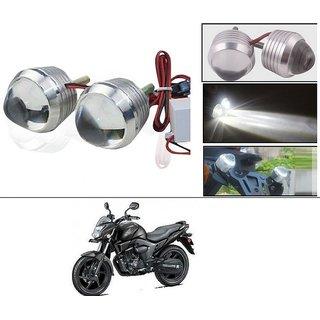 AutoStark Ultra Bright Scooty/Motorcycle/Bike White Flasher Led Fog Light- Set Of 2 For Honda CB Trigger