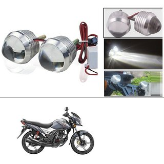 AutoStark Ultra Bright Scooty/Motorcycle/Bike White Flasher Led Fog Light- Set Of 2 For Honda CB Shine